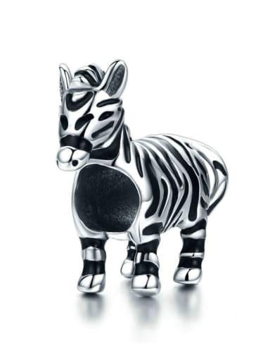 925 silver cute zebra charm