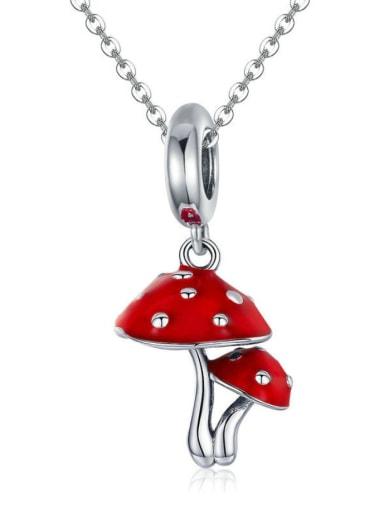 925 silver cute mushroom charm