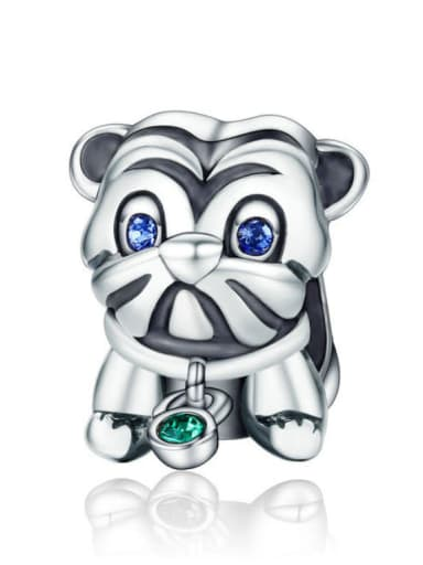 925 silver cute puppy charm