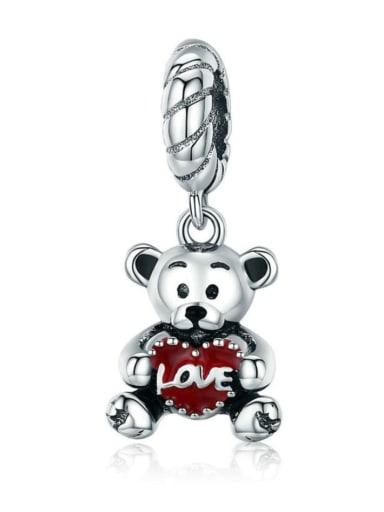 925 silver cute bear charm