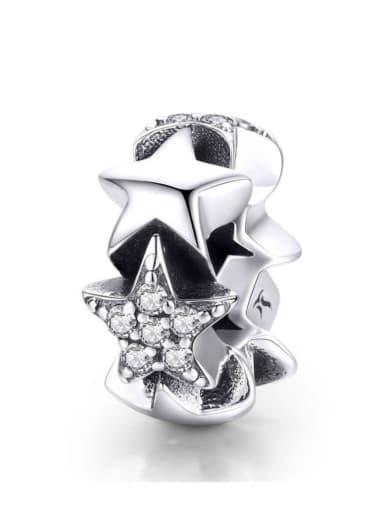 925 silver cute star charm