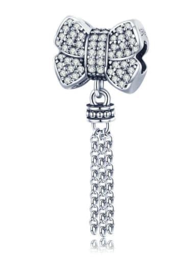 Pendant 925 silver cute bow charm