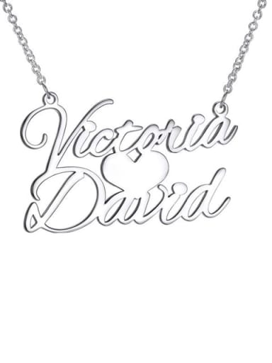 Custom Sweet Love Personalized Name Necklace silver