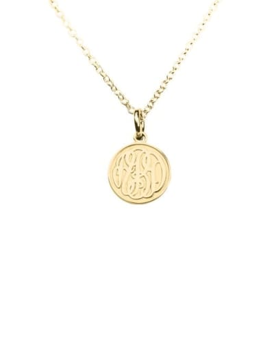 18K Gold Plated Customize Embossed  Monogram Necklaces sterling siver
