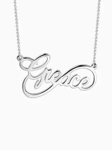 Customized Infinity Style Name Necklace