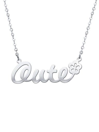 Personalized Classic Name Necklace with Flower