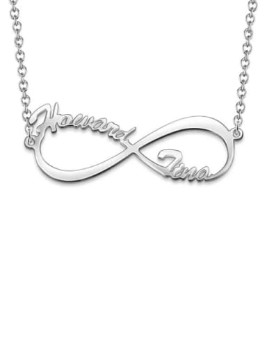 Customized Silver Infinity Name Necklace