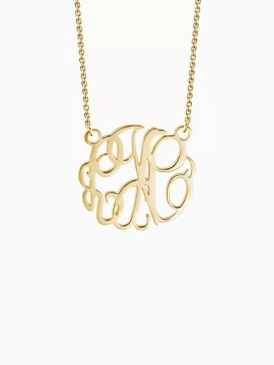 Customize Monogram Necklace Sterling Silver