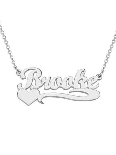 Personalized  Heart Name Necklace silver