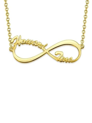 18K Gold Plated Customized Silver Infinity Name Necklace