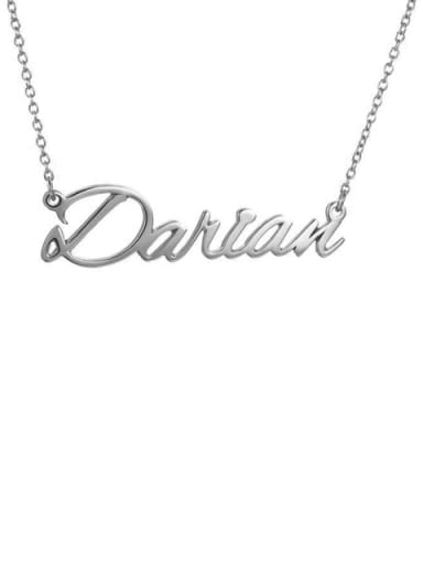 Custom Darian style  Name Necklace Silver