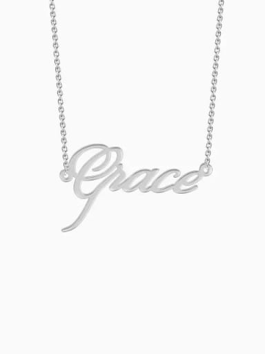 Silver Customized Personalized Name Necklace
