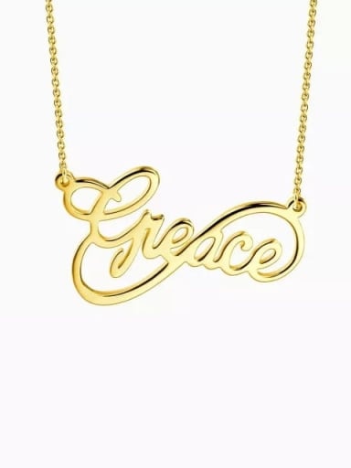 18K Gold Plated Customized Infinity Style Name Necklace