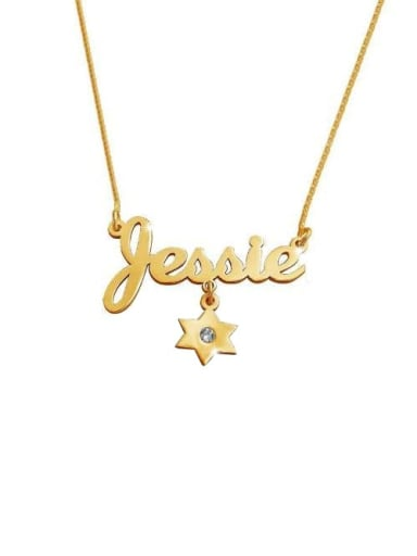 Personalized Charm Name Necklace Birthstone