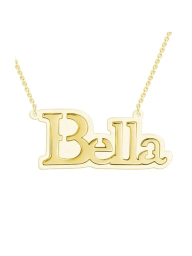 18K Gold Plated Bella style Silver Name Necklace