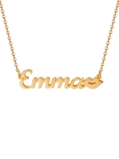 18K Rose Gold Plated Personalized Kiss Name Necklace Silver