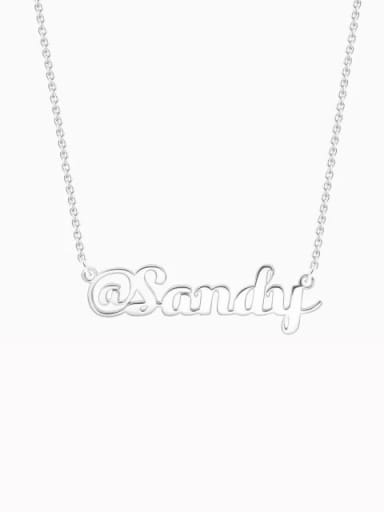 "Silver Customize Silver ""@"" Sign Name Necklace"