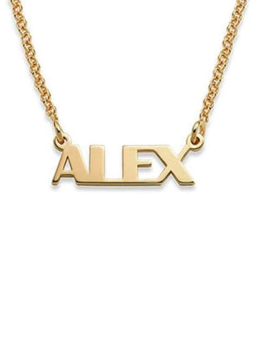 Alex style Silver Personalized Name Necklace