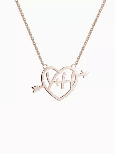Customize  Silver Cupid's Arrow Name Necklace