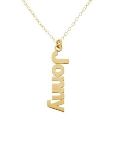 Personalized Sidelong Nameplate Necklaces