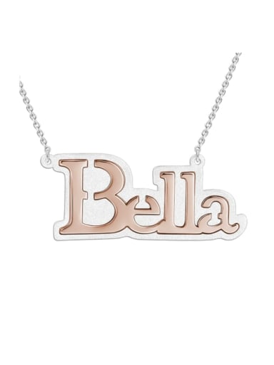 18K Rose Gold Plated Bella style Silver Name Necklace