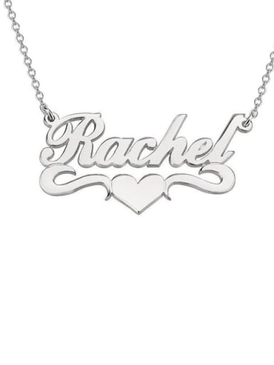 Rachel style Personalized Heart Name Necklace