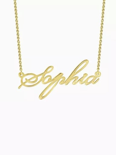 18K Gold Plated Customized Personalized Name Necklace