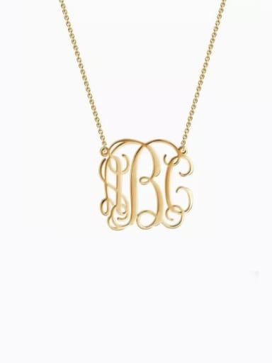 Small Celebrity RBC Monogram Necklace Sterling Silver