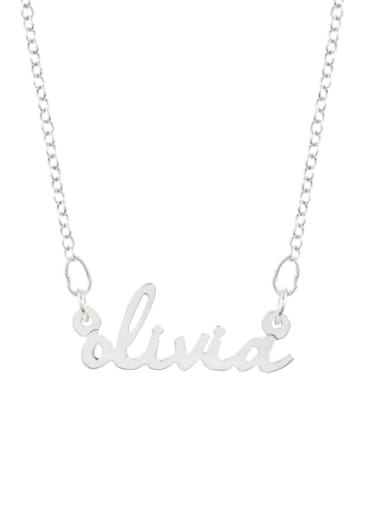livia style personalized Nameplate silver