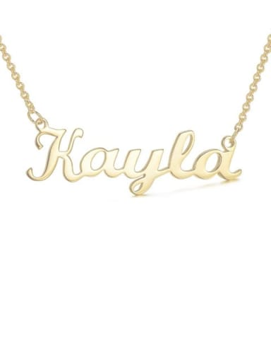 custom Kayla style silver Personalized Name Necklace