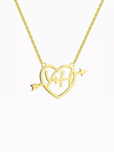 18K Gold Plated Customize  Silver Cupid's Arrow Name Necklace