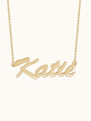 "18K Gold Plated Customize Classic Personalized ""Katie"" Name Necklace sterling siver"