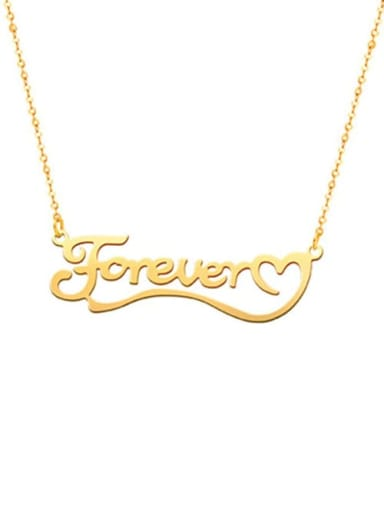 18K Gold Plated Love You Forever Personalized Classic Name silver