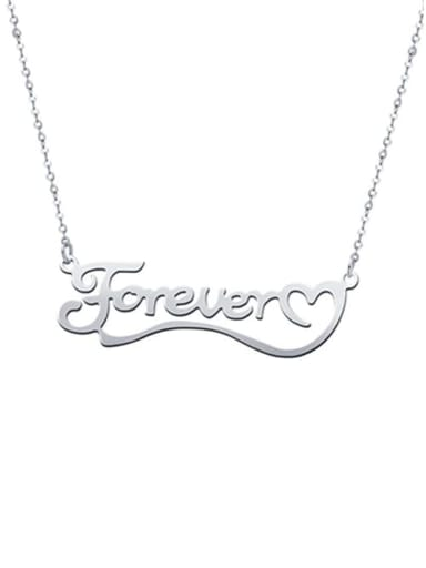 Love You Forever Personalized Classic Name silver