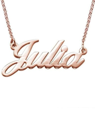 Custom Julia style Name Necklaces silver