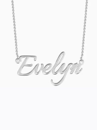Customized  Silver Personalized Name Necklace