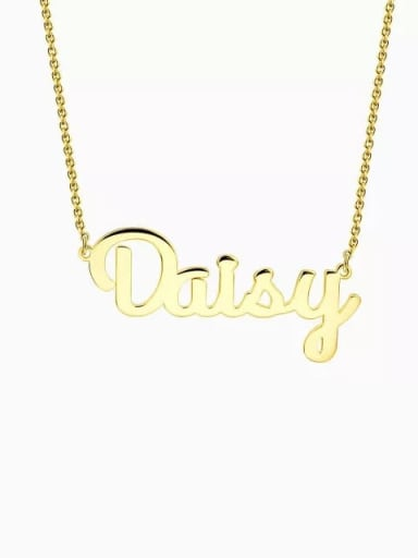 18K Gold Plated Customized Name Necklace silver