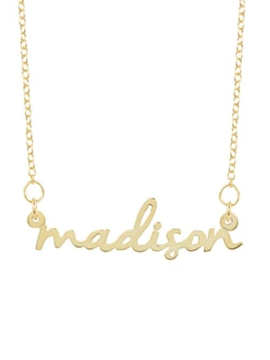 18K Gold Plated livia style personalized Nameplate silver