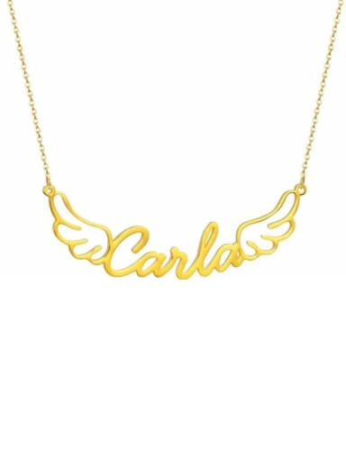 18K Gold Plated personalized Angel Wings Name Necklace