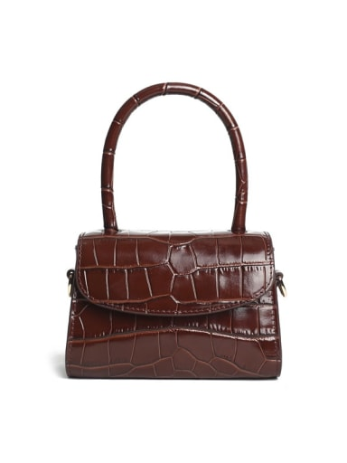 Multicolor_Crocodile Square Bag/handbag/shoulder bag