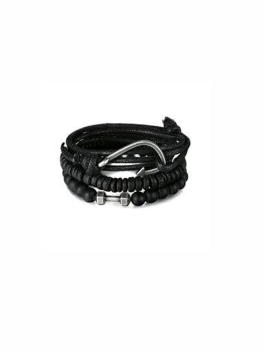 Charm Black Beads Beautiful Bracelet