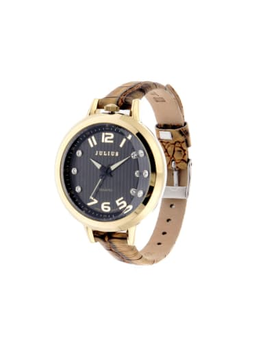 Model No A000463W-001 Women 's Brown Women's Watch Japanese Quartz Round with 24-27.5mm