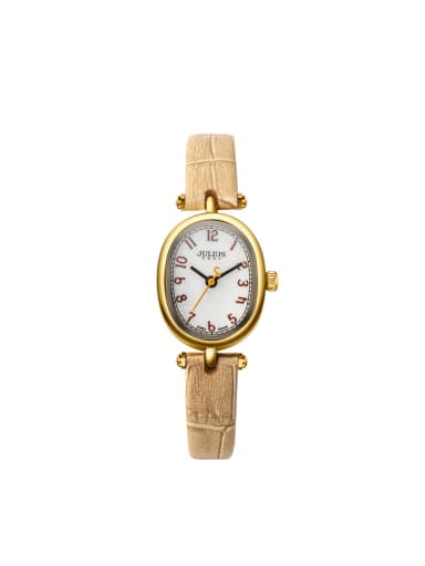 Women 's Yellow Women's Watch Japanese Quartz Oval with 24-27.5mm