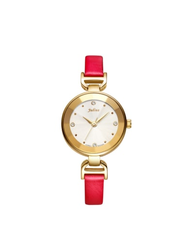 Model No 1000003375 28-31.5mm size Alloy Round style Genuine Leather Women's Watch
