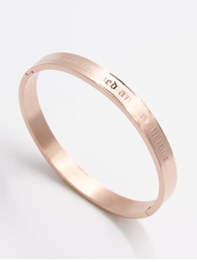 Stainless steel  Rose Bangle  63MMX55MM