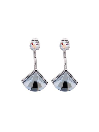 Zinc Alloy Swarovski Crystals Studs drop Earring