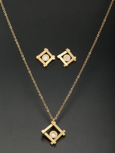 Stainless steel Square 2 Pieces Set