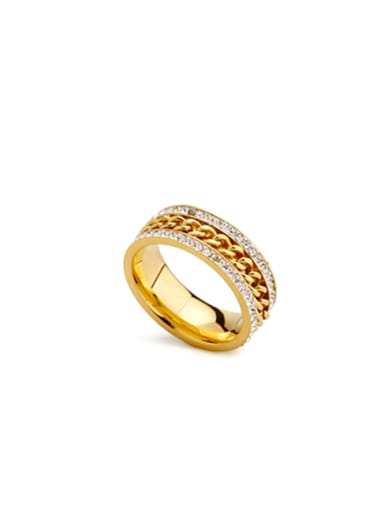 Gold Plated Stainless steel chain Band band ring