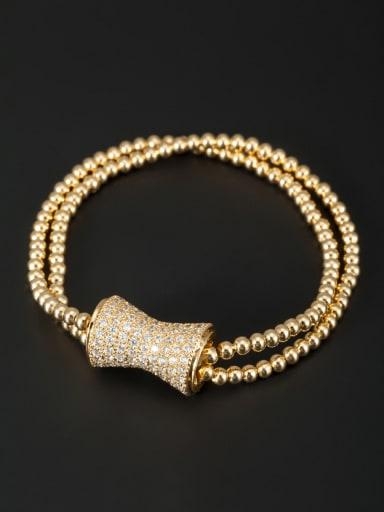 Gold Plated White Zircon Beautiful Bracelet