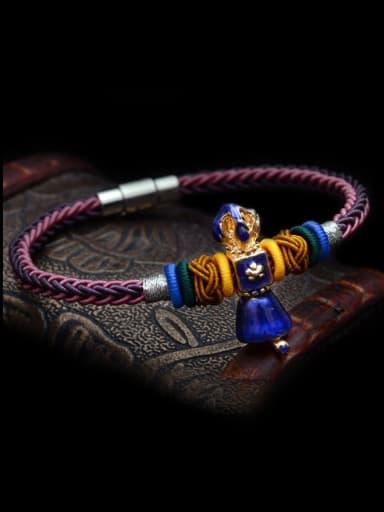 Personalized Chinlon Multicolor Handmade  Bracelet